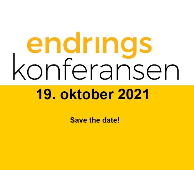 Gjør deg klar for Endringskonferansen 19. oktober!